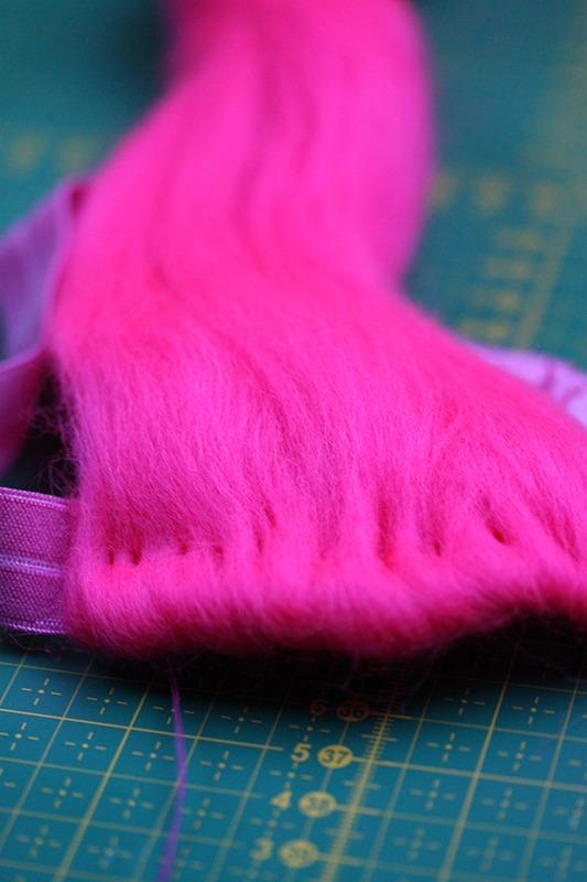Princess Poppy costume: the wig