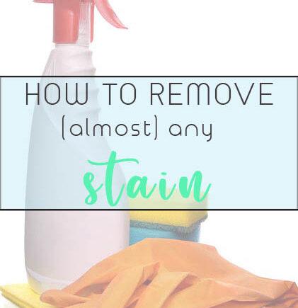 remove stain